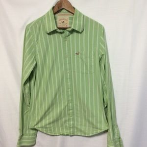 Hollister Men's pin striped button down shirt